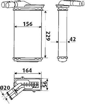 Radiador de Aquecimento - Valeo - 6TT010A - Unitário