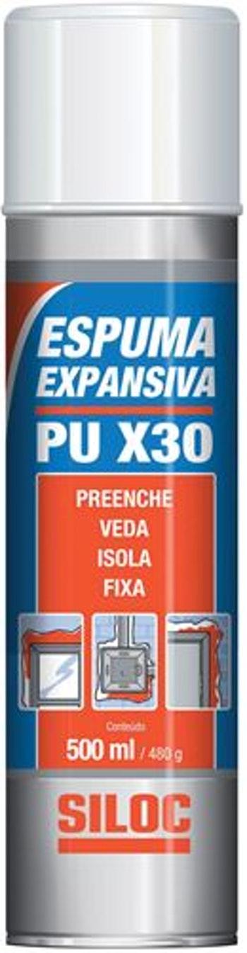 Espuma Expansiva PU X-30 500ml c - Siloc - 400314 - Unitário