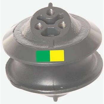 Coxim Dianteiro da Suspensão do Motor - Fundido - Tarja Verde e Amarela - Suporte Rei - R-5048 - Unitário