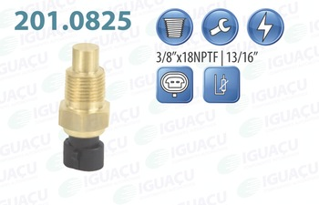 Sensor de Temperatura de Água - Iguaçu - 201.0825 - Unitário