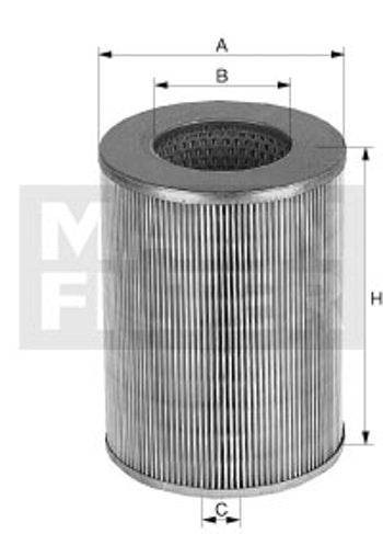 Filtro de Ar - Mann-Filter - C 16 136 - Unitário