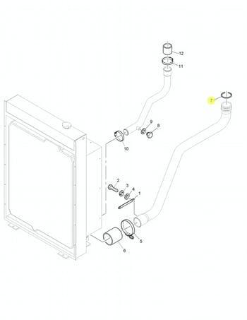 Anel de Vedação da Mangueira do Radiador e do Filtro de Ar - PERKINS - CH11125 - Unitário