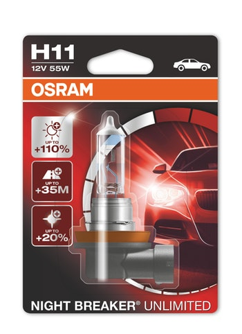 Lâmpada Night Breaker Unlimited H11 - Osram - 64211NBU - Par