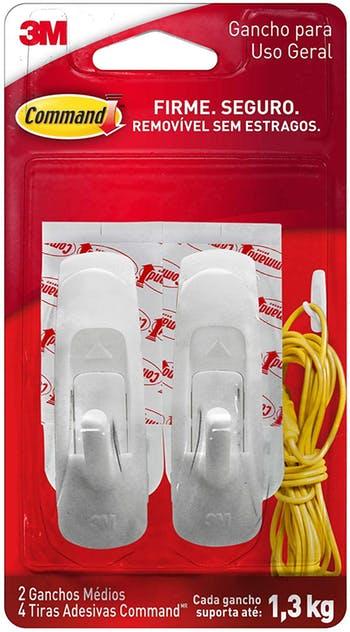 Gancho Adesivo Plástico Command Médio - 3M - H0001818113 - Unitário