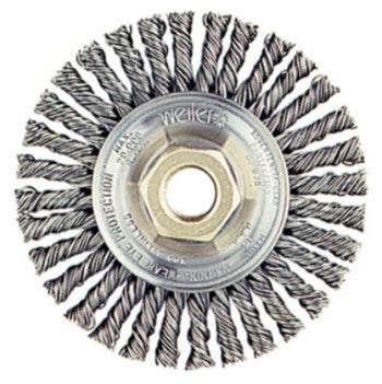 Escova Circular de Aço Trançado 100x12mm Fio 0,50mm 20000RPM 13120 - Weiler - 13120 - Unitário