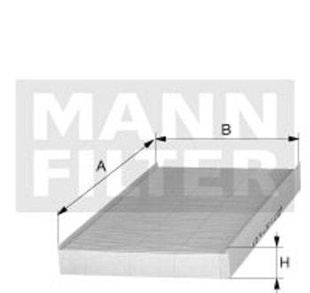 Filtro do Ar Condicionado - Mann-Filter - CU 3192 - Unitário