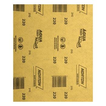 Folha de lixa água T223 grão 220 - Norton - 66261161502 - Unitário