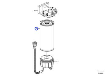 Filtro Separador de Água - Volvo CE - 11110683 - Unitário