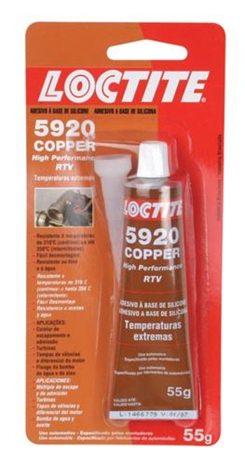 Silicone Alta Temperatura 315ºC Cobre 5920 55g - Loctite - 284472 - Unitário
