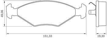 Pastilha de Freio - BB 0008/BB 23 - Bosch - 0986BB0259 - Par