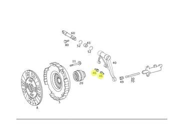 Conjunto de Rolete Com Pino Rolamento da Embreagem - Original Mercedes-Benz - A0002540017 - Unitário