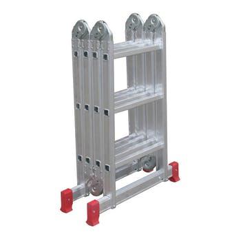 Escada Articulada Multifuncional 4 x 3 em Alumínio com 12 Degraus - Botafogo - ESC0292 - Unitário