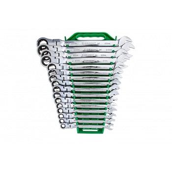 Jogo de Chaves Combinadas com Catraca  e Cabeça Flexível 8 a 25mm - Belzer - 9902BJ - Jogo