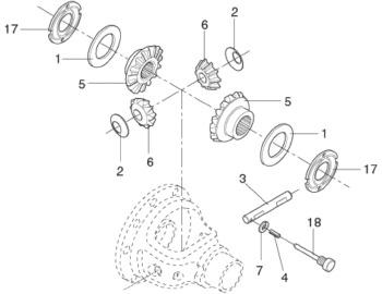 Kit Reparo da Caixa do Diferencial - Spicer - BA402031-X - Unitário