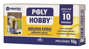Adesivo Epóxi Polyhobby 10min Líquido 16g - Pulvitec - EA015 - Unitário