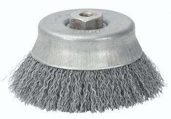 Escova Copo Aço Ondulado 150x M14 Fio 0,40mm 8500Rpm - Abrasfer - 7500 DN M14-0,4 - Unitário