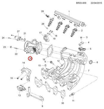 Corpo da Borboleta - Original Chevrolet - 93361773 - Unitário