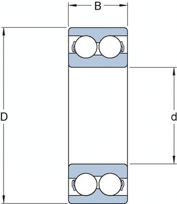 Rolamento de Esferas de Contato Angular - SKF - 3312 A - Unitário