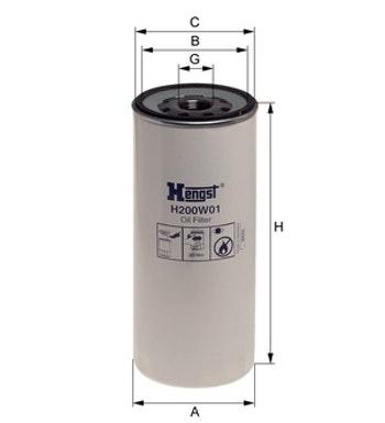 Filtro de Óleo - Hengst - H200W01 - Unitário