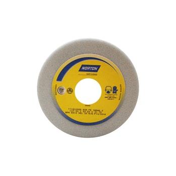 Rebolo copo reto branco 38A 46 K - 127,0X50,8X31,75 - Norton - 66253362424 - Unitário