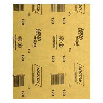 Folha de lixa água T223 grão 120 - Norton - 66261161500 - Unitário