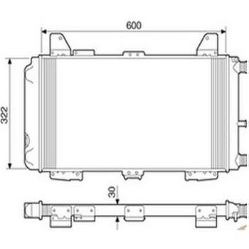Radiador de Resfriamento - Valeo - TA535001R - Unitário