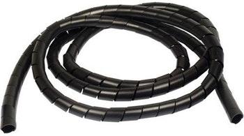 "Spiral Tube PVC 1/2"" Preto Largura 15,6mm para Diâmetro  9,5-50,0mm - HellermannTyton - 1049812 - Unitário"