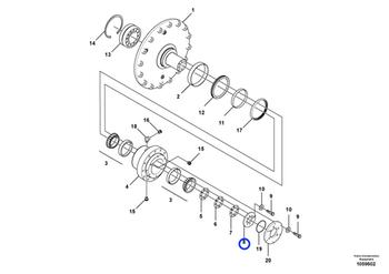 Chapa do Tambor da Roda - Volvo CE - 12783850 - Unitário