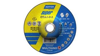 Disco de corte c/ depressão central CDA 1,2,3 - 115x2,8x22,23mm - Norton - 66252931339 - Unitário