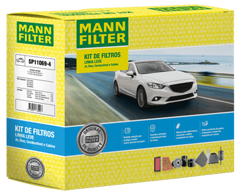 KIT Original MANN-FILTER - TOYOTA ETIOS 1.3 16V Flex (05.2016 -) e 1.5 16V Flex (05.2016-) - Mann-Filter - SP11069-4 - Kit