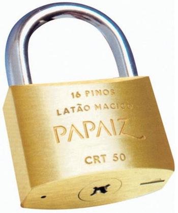 Cadeado Latão 50mm - Papaiz - 6818196 - Unitário