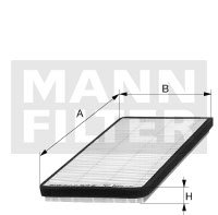 Filtro do Ar Condicionado - Mann-Filter - CU3858 - Unitário