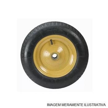 Roda para Pneu e Câmara 350x8 com Rolamento Esfera 25mm - Horbach - 00193 - Unitário