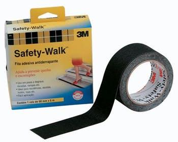 Fita Antiderrapante Safety-Walk Preta 50mm x 5m - 3M - H0001912452 - Unitário