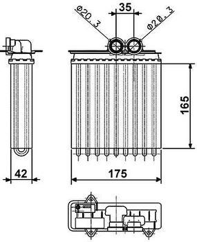 Radiador de Aquecimento - Valeo - 817735R - Unitário