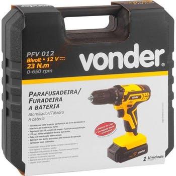 """Furadeira/Parafusadeira sem Fio PFV 012 3/8"""" 12V - Vonder - 60.01.012.000 - Unitário"""