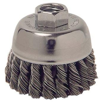 Escova Copo Aço Trançado 70mm M14 0,35mm 14000Rpm - Weiler - 13020 - Unitário