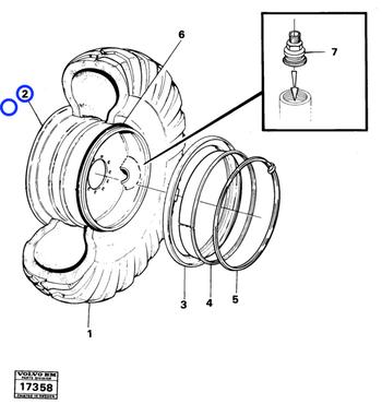 Roda - Volvo CE - 15048755 - Unitário