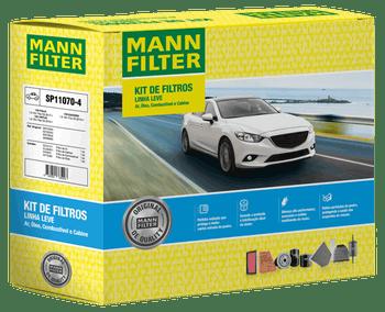 KIT Original MANN-FILTER - VW POLO (09.2017-) VIRTUS (09.2018-) SAVEIRO (03.2014-) - Mann-Filter - SP11070-4 - Kit