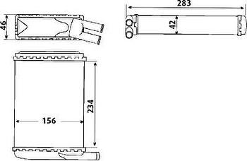 Radiador de Aquecimento - Valeo - T023001R - Unitário