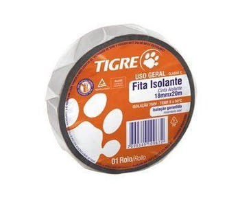 Fita Isolante Tigre Uso Geral 18mm x 20m - Tigre - 54502630 - Unitário