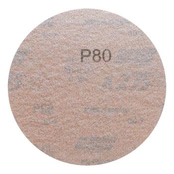 Disco de lixa seco A275 grão 80 127mm s/ furo - Norton - 66261086347 - Unitário