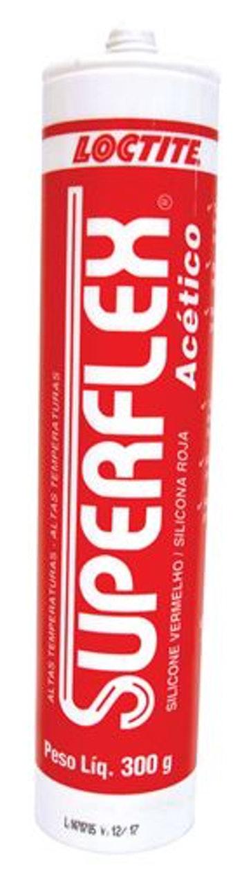 Borracha Silicone Vermelho Superflex 300g 260º - Loctite - 716669 - Unitário