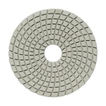 Disco diamantado flexível - Brilho d'água Grão 3000 100mmxM14 - Norton - 70184643182 - Unitário