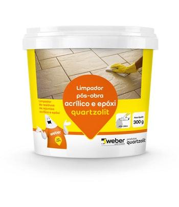 Limpador Pós-Obra Acrílico e Epóxi 300g - Quartzolit - 0497.99999.0001CX - Unitário