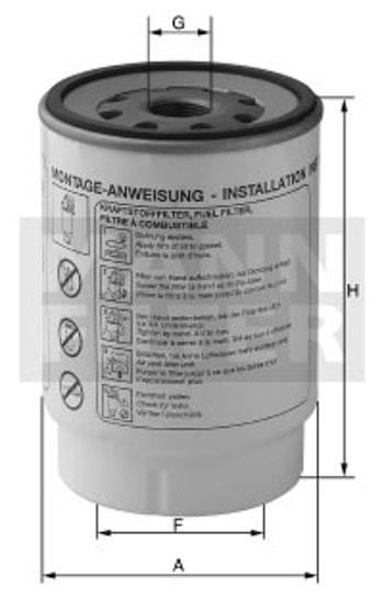 Filtro Blindado do Combustível Separador D'água - Mann-Filter - WK947/2 - Unitário