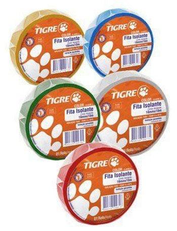 Fita Isolante Tigre Color Vermelho 18mm x 10m - Tigre - 54502745 - Unitário