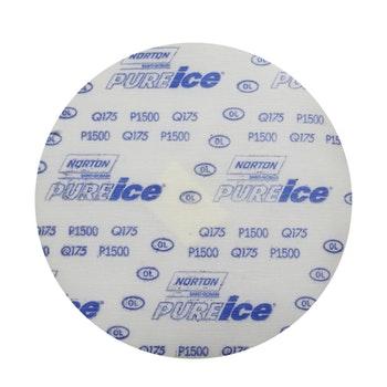 Disco de lixa microfina - Ice Q175 grão 1500 152mm s/ furo - Norton - 77696088716 - Unitário