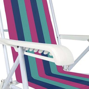 Cadeira de Praia Reclinável 8 Posições - Mor - 2005-2232 - Unitário