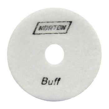 Disco diamantado flexível - Brilho d'água Grão 6500/Buff Branco 100mmxM14 - Norton - 70184643183 - Unitário